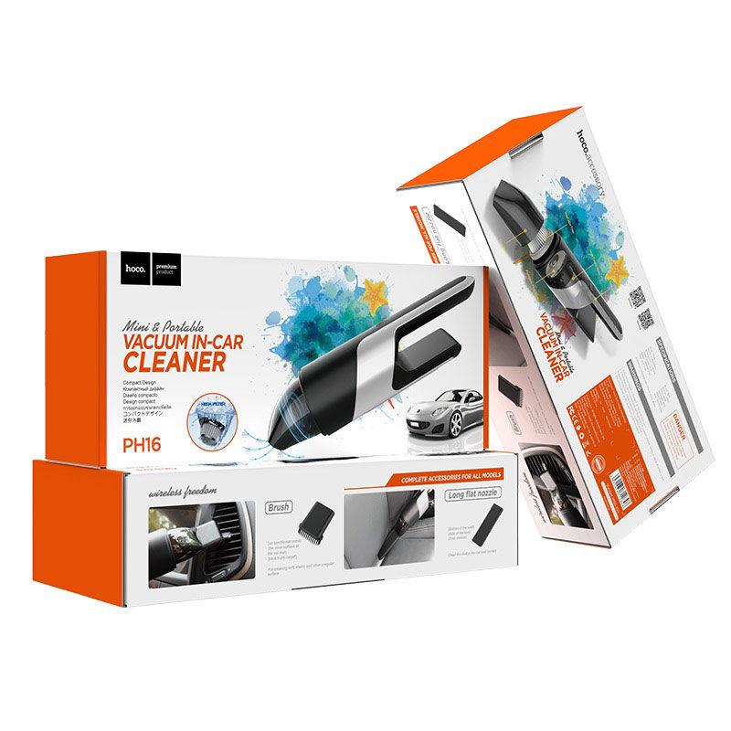 hoco ph16 azure portable in car vacuum cleaner package