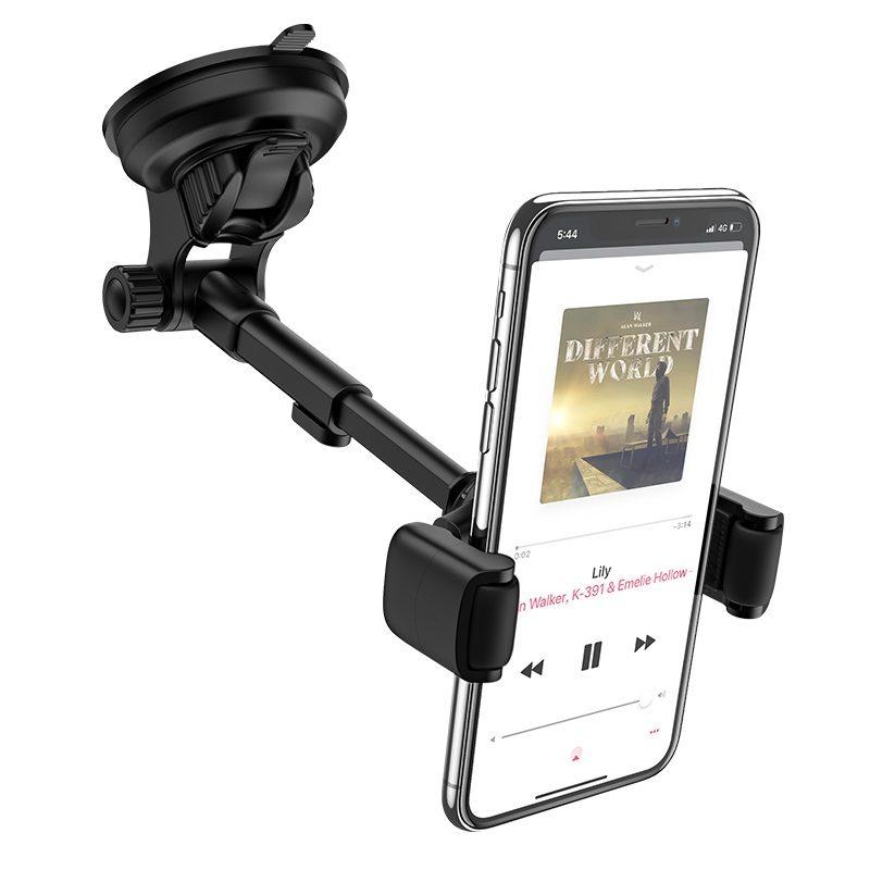 hoco selected s12 lite автомобильный держатель телефона для приборной панели зажим
