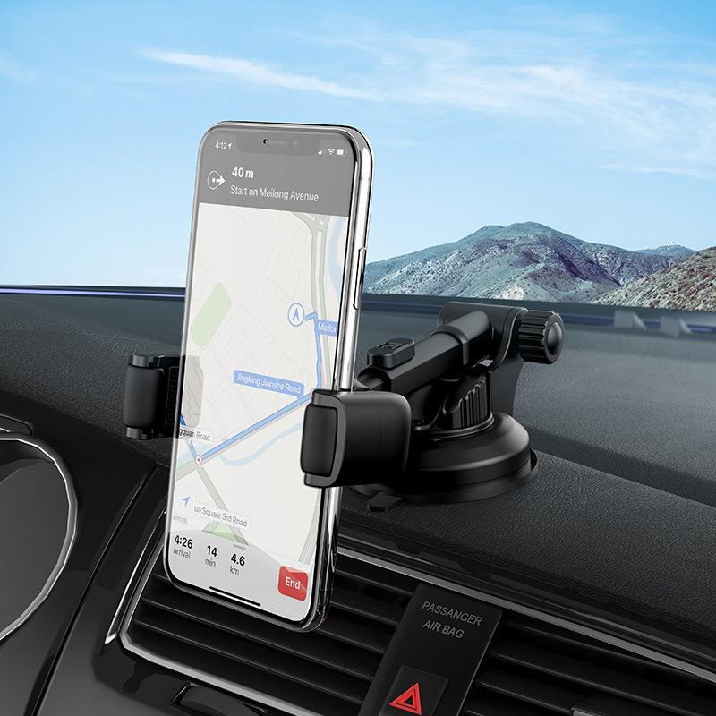hoco selected s12 lite автомобильный держатель телефона для приборной панели крепление
