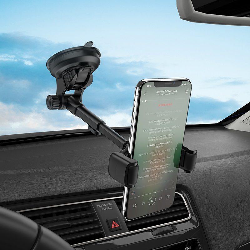 hoco selected s12 lite автомобильный держатель телефона для приборной панели ветровое стекло