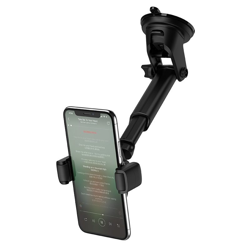 hoco selected s12 rich power in car wireless charging holder clump