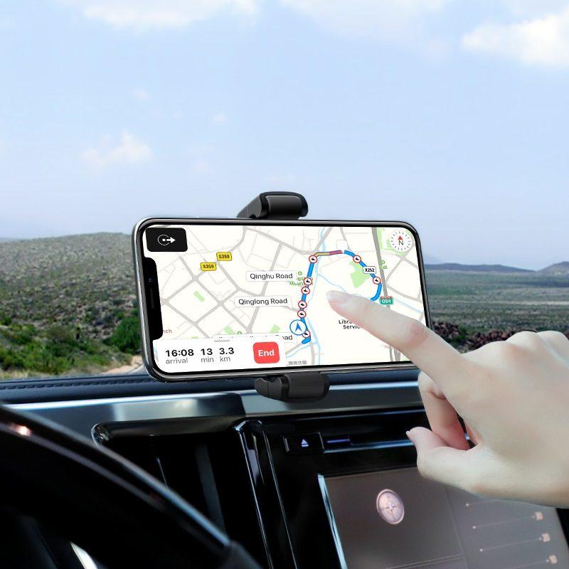 hoco selected s12 rich power автомобильный держатель с беспроводной зарядкой навигатор