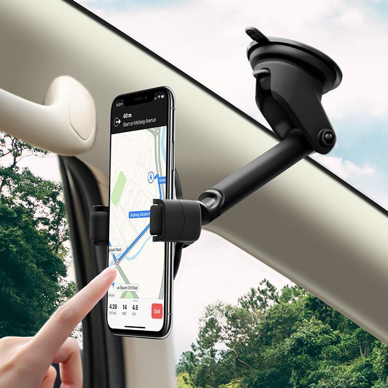 hoco selected s12 rich power автомобильный держатель с беспроводной зарядкой ветровое стекло