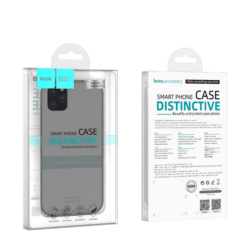 hoco thin series pp чехол для iphone 5.8 упаковка спереди сзади