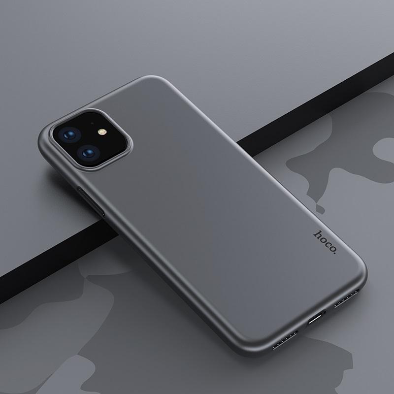hoco thin series pp чехол для iphone 6.1 jet black интерьер