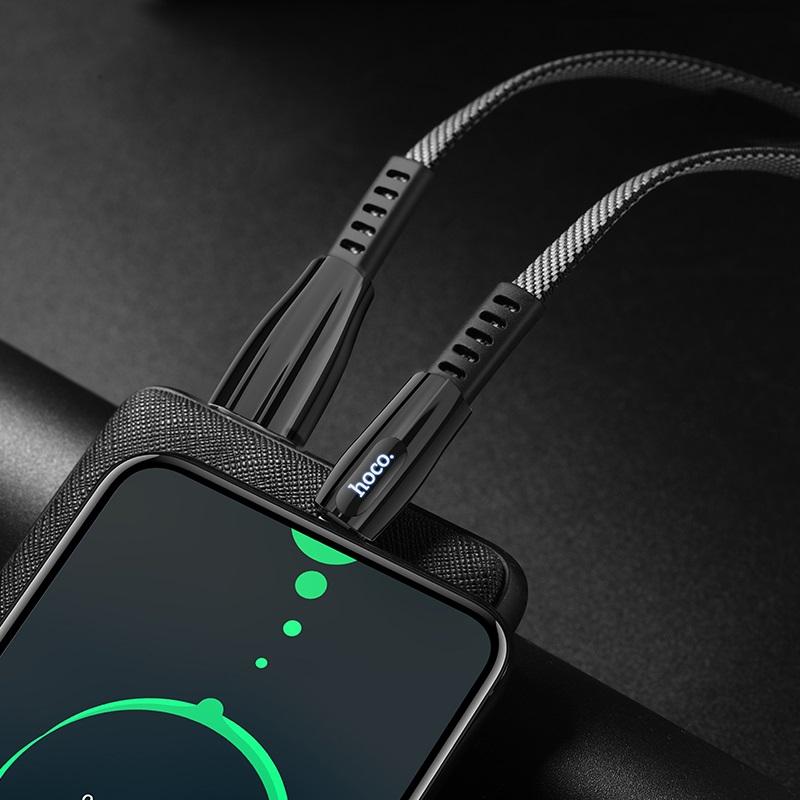 hoco u70 splendor зарядный дата кабель для type c интерьер