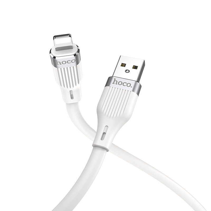 hoco u72 forest silicone charging data cable for lightning connectors