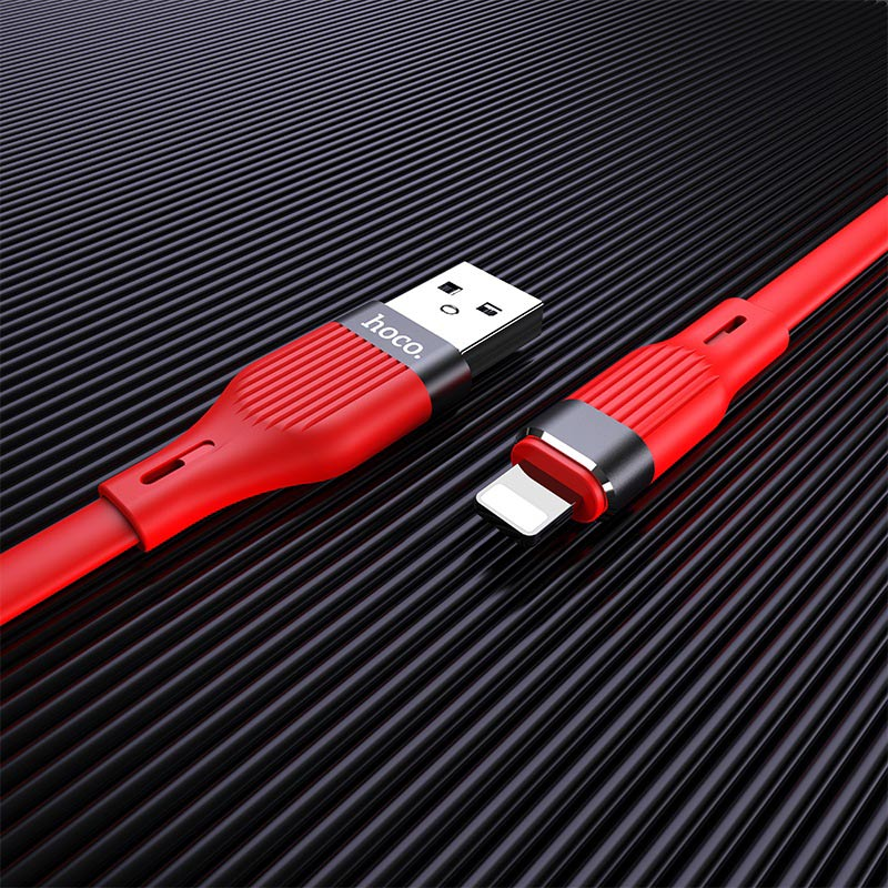 hoco u72 forest silicone charging data cable for lightning interior