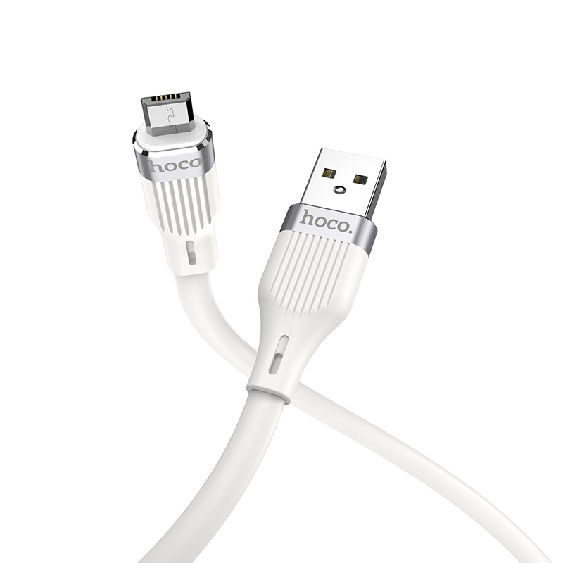 hoco u72 forest silicone charging data cable for micro usb connectors