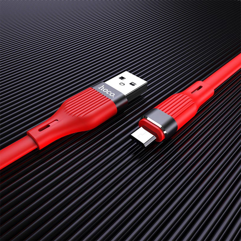hoco u72 forest silicone charging data cable for micro usb interior