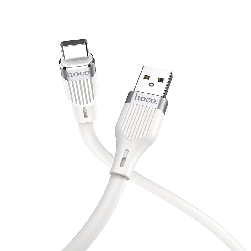 hoco u72 forest silicone charging data cable for type c connectors