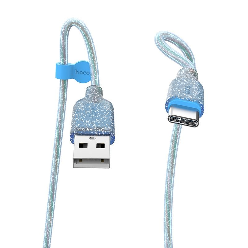 hoco u73 star galaxy silicone charging data cable for type c connectors