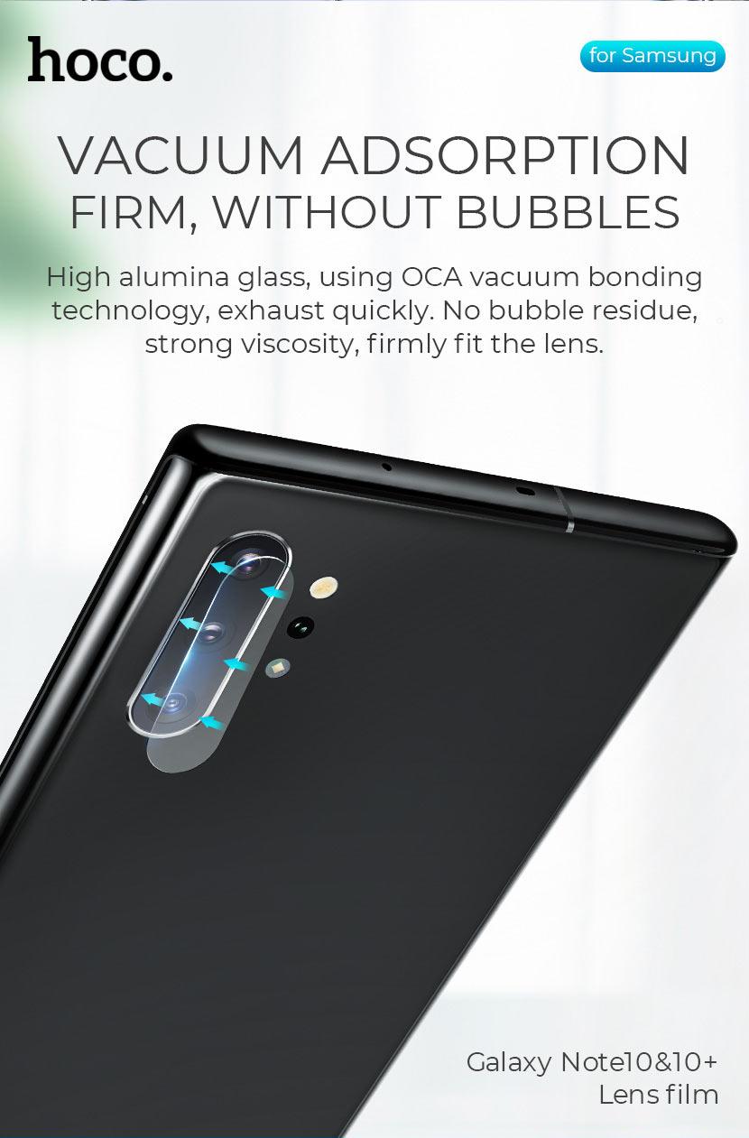 hoco v11 lens flexible tempered film for samsung galaxy note 10 10plus alumina glass en