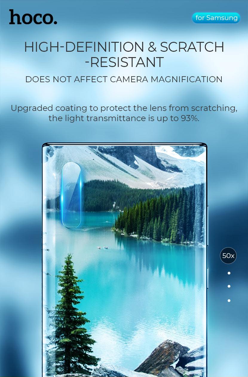 hoco v11 lens flexible tempered film for samsung galaxy note 10 10plus coating en