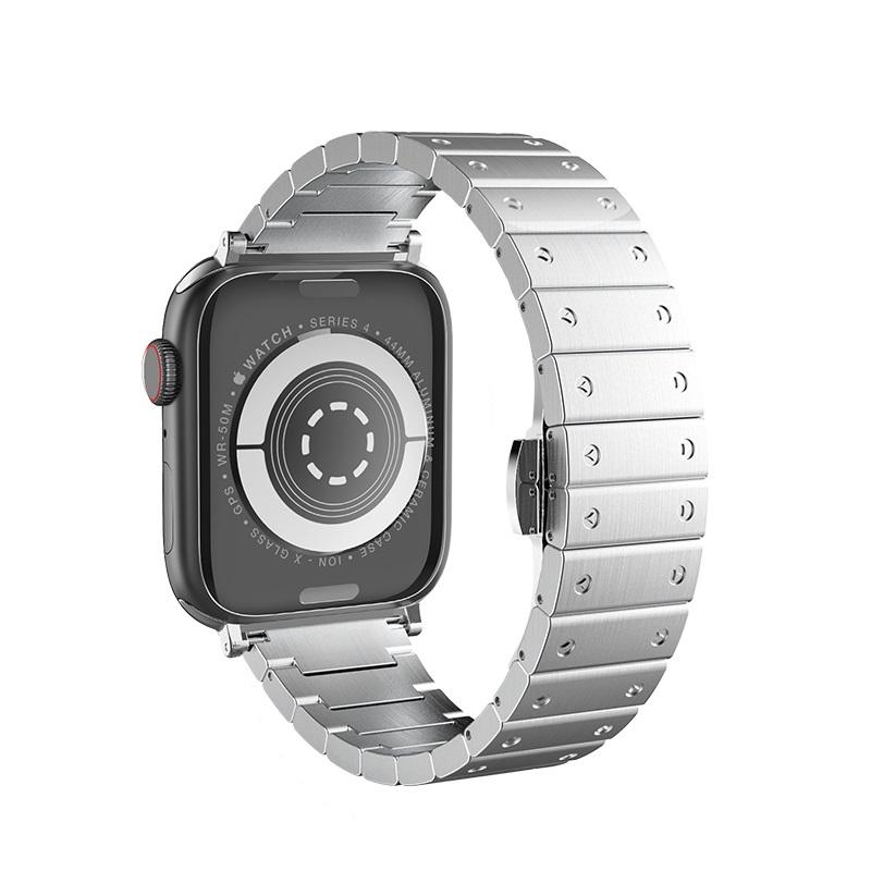hoco wb07 precious браслет из нержавеющей стали для apple watch сзади