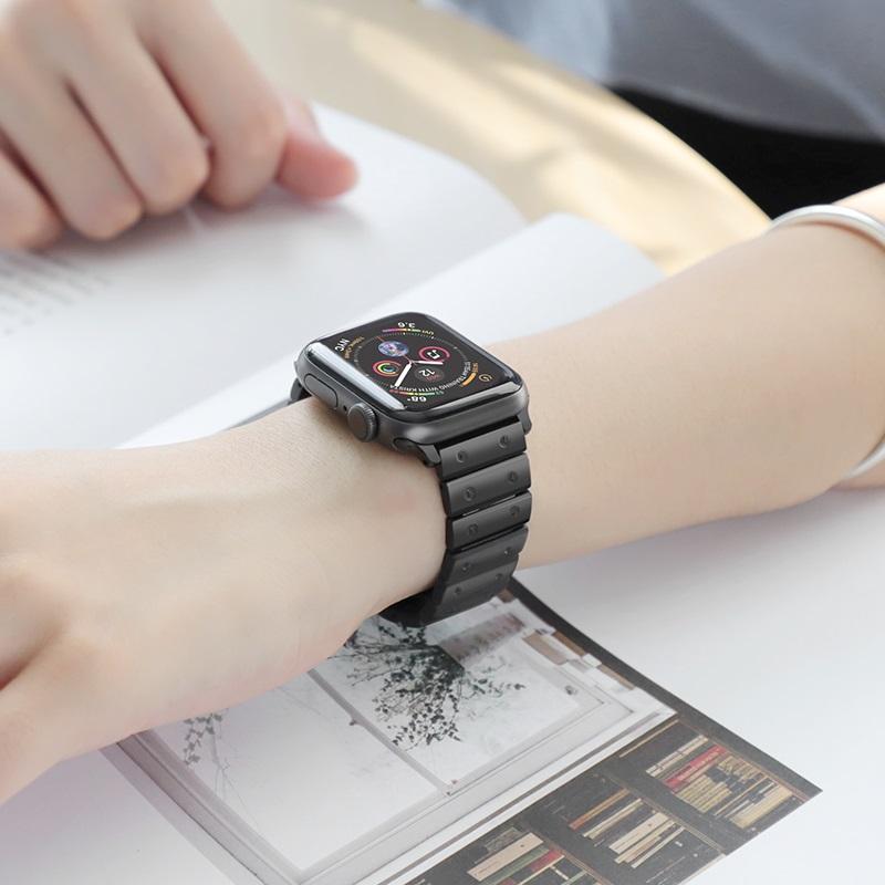hoco wb07 precious браслет из нержавеющей стали для apple watch интерьер