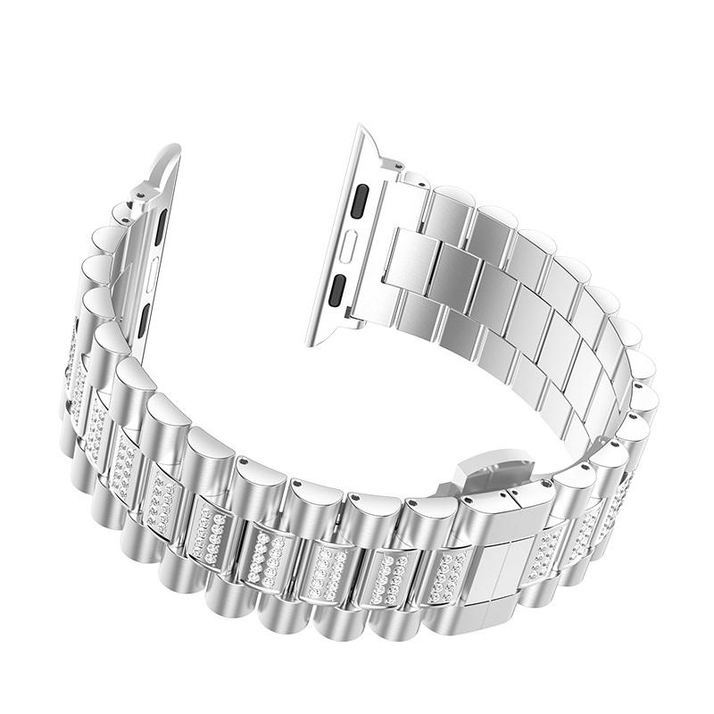hoco wb08 shining steel watch strap for apple watch buckle