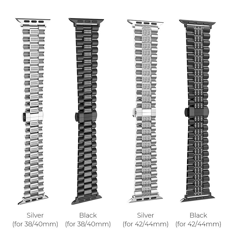 hoco wb08 shining steel watch strap for apple watch colors sizes