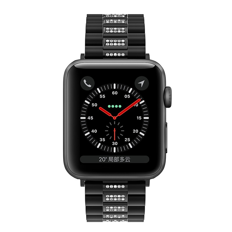 hoco wb08 shining steel watch strap for apple watch front