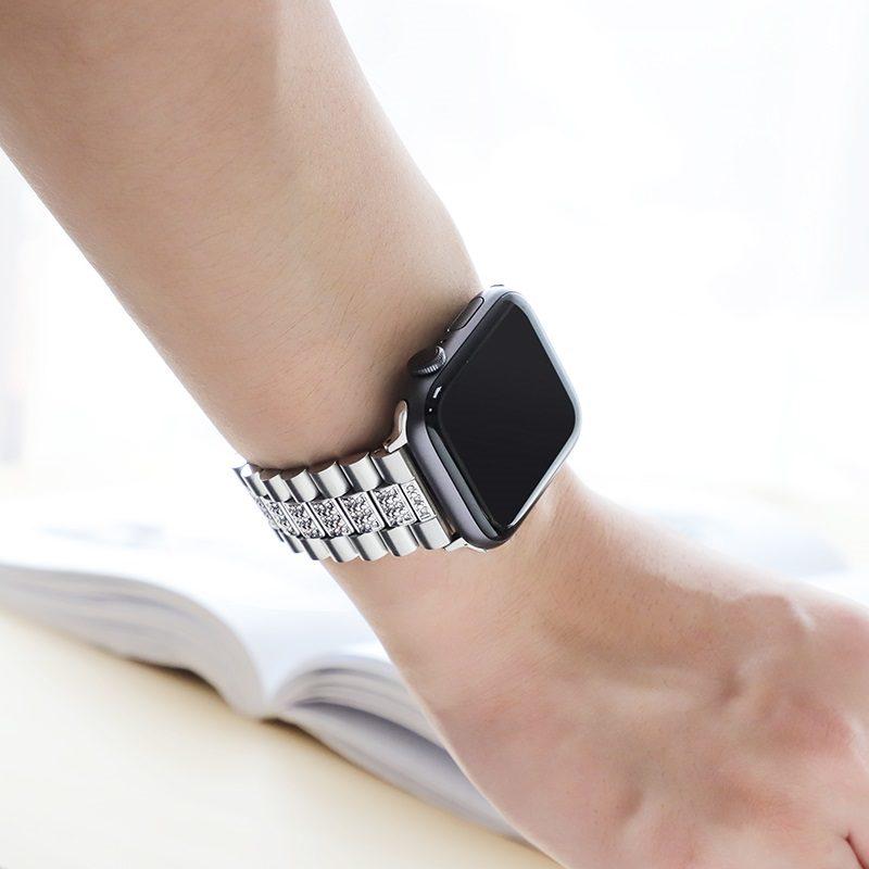 hoco wb08 shining steel watch strap for apple watch hand