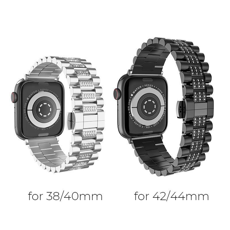 hoco wb08 shining steel watch strap for apple watch sizes