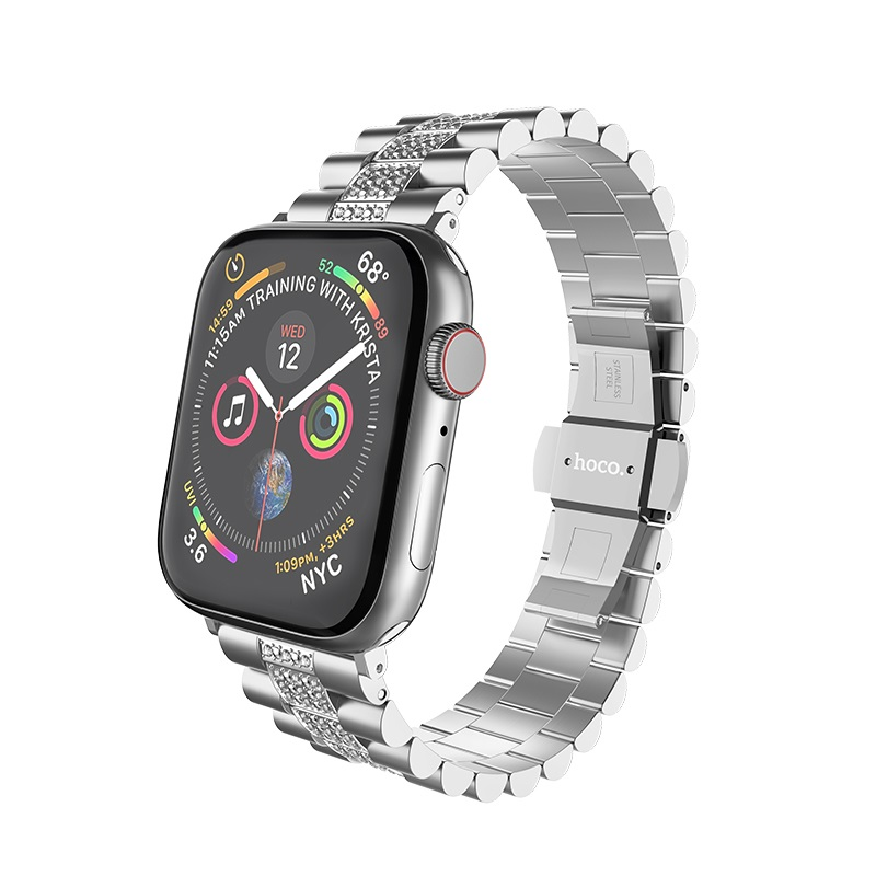 hoco wb08 shining steel watch strap for apple watch