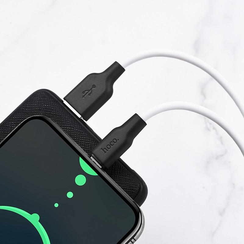 hoco x21 plus type c силиконовый зарядный кабель зарядка белый