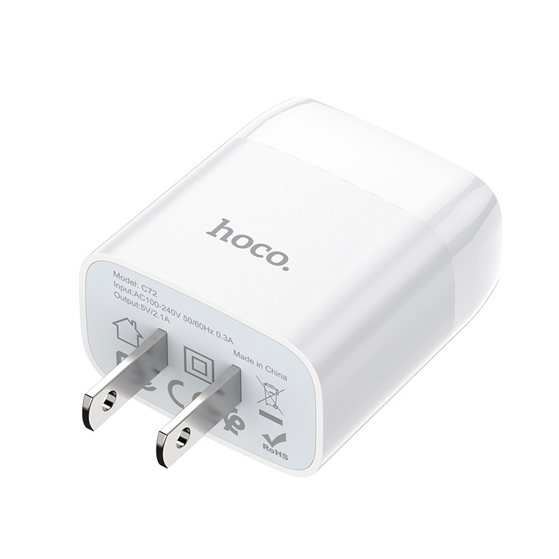 hoco c72 glorious single port charger us specs