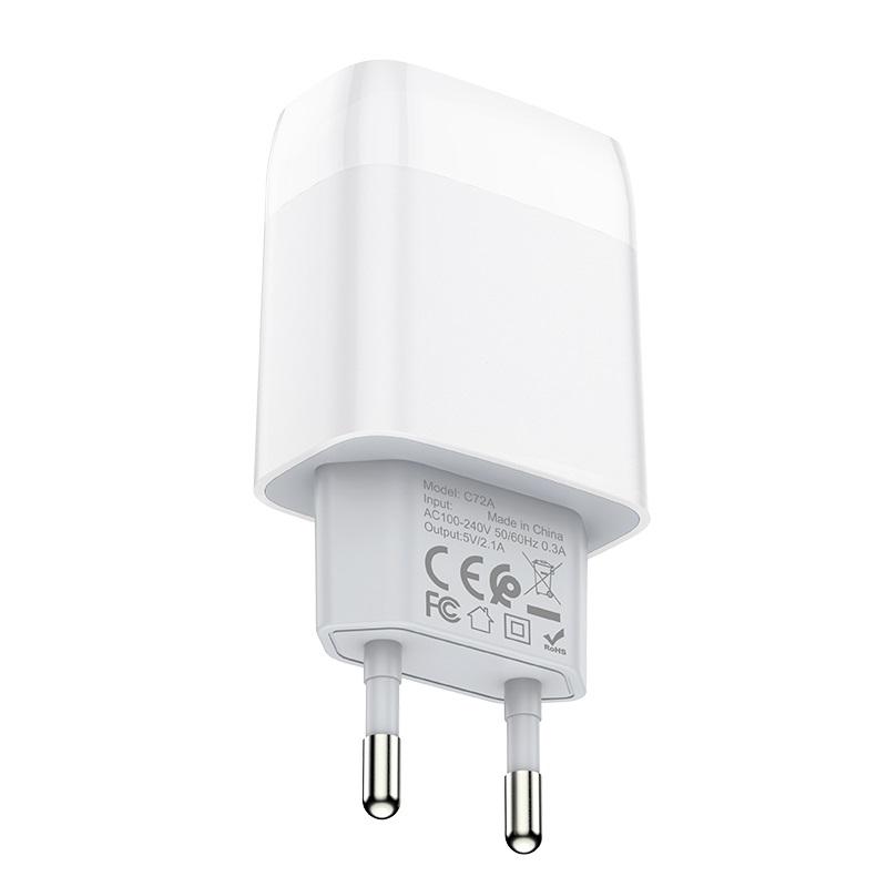 hoco c72a glorious зарядный адаптер eu штекер спецификация