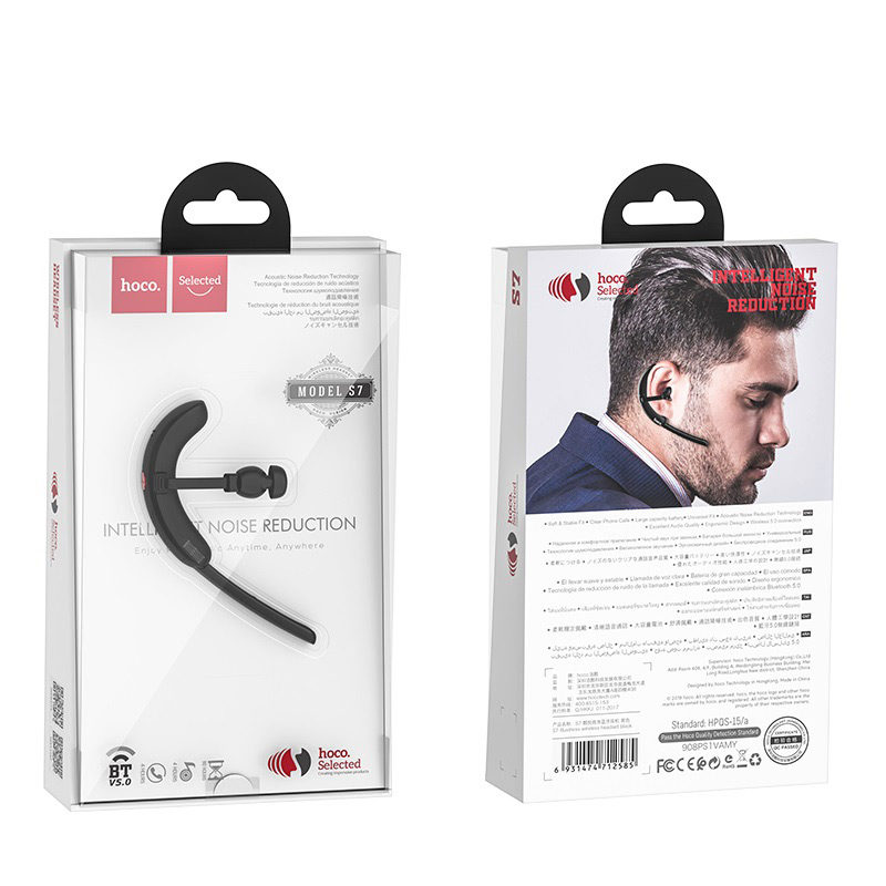 hoco selected s7 delight business wireless headset package