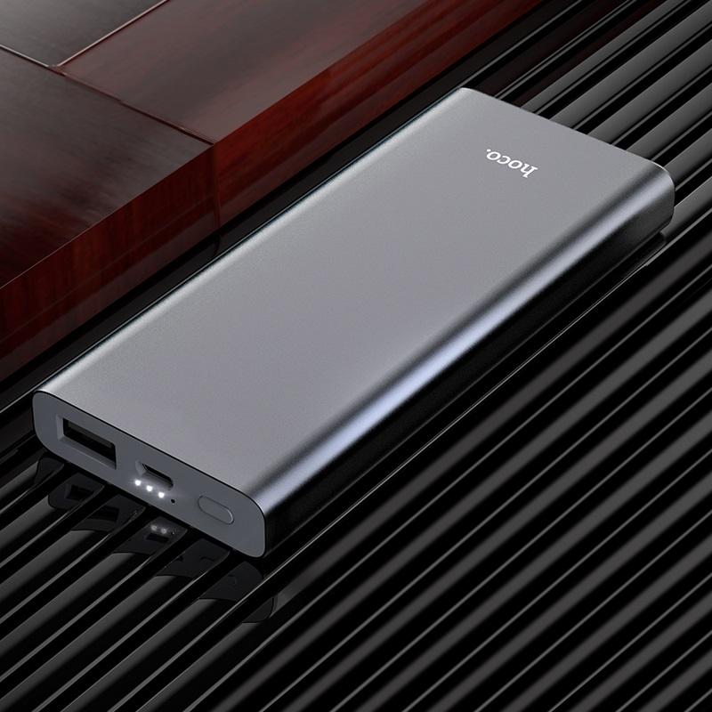 hoco b40 universal портативный аккумулятор 7000mah интерьер металлик