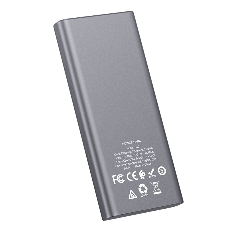hoco b40 universal mobile power bank 7000mah specs