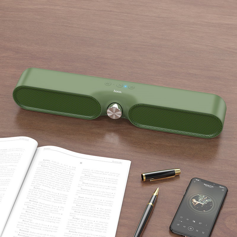 hoco bs32 enjoy desktop wireless speaker interior interior green