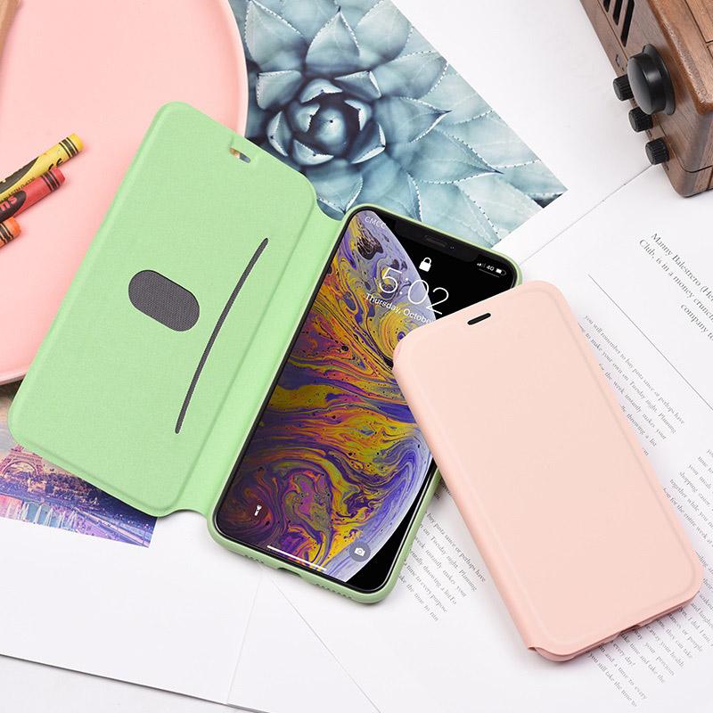 hoco colorful series защитный чехол из жидкого силикона для iphone x xs max интерьер розовый зеленый