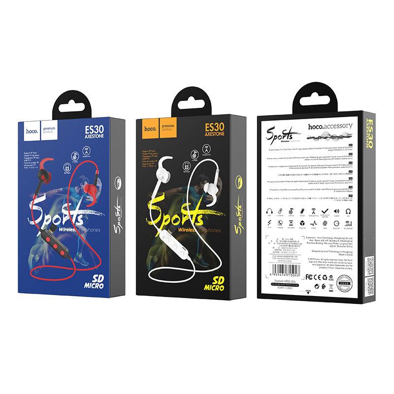hoco es30 axestone спортивная беспроводная гарнитура упаковка