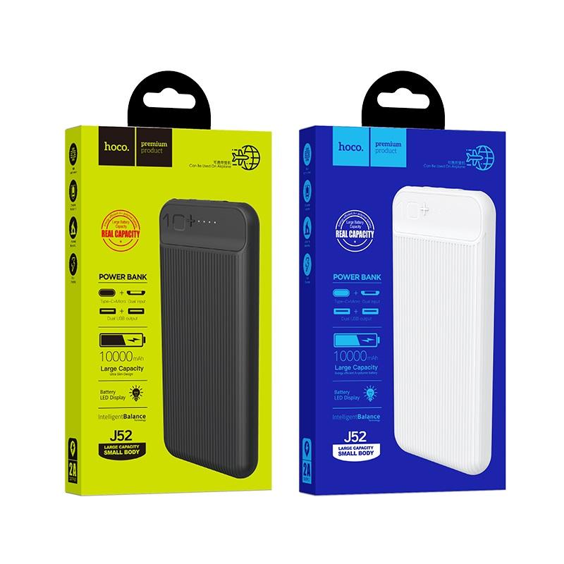 hoco j52 new joy портативный аккумулятор 10000mah упаковка