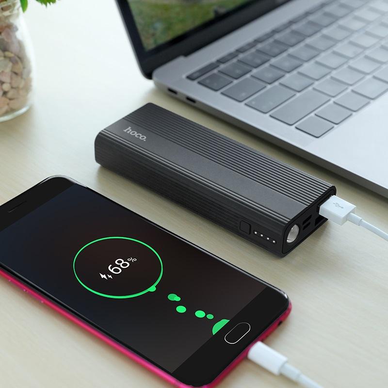 hoco j54 spirit power портативный аккумулятор 10000mah зарядка