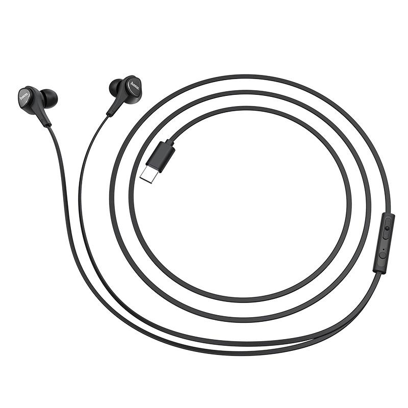 hoco m67 passion type c проводные наушники с микрофоном провод
