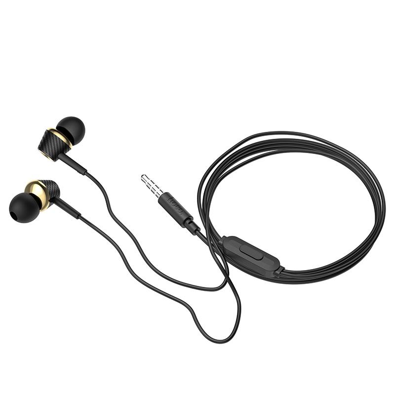 hoco m70 graceful универсальные наушники с микрофоном провод черный