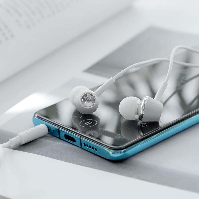 hoco m70 graceful универсальные наушники с микрофоном интерьер белый