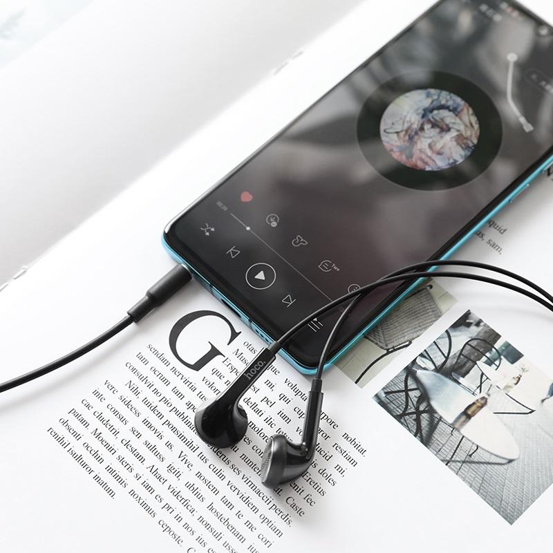 hoco m73 joan универсальные наушники с микрофоном интерьер черный