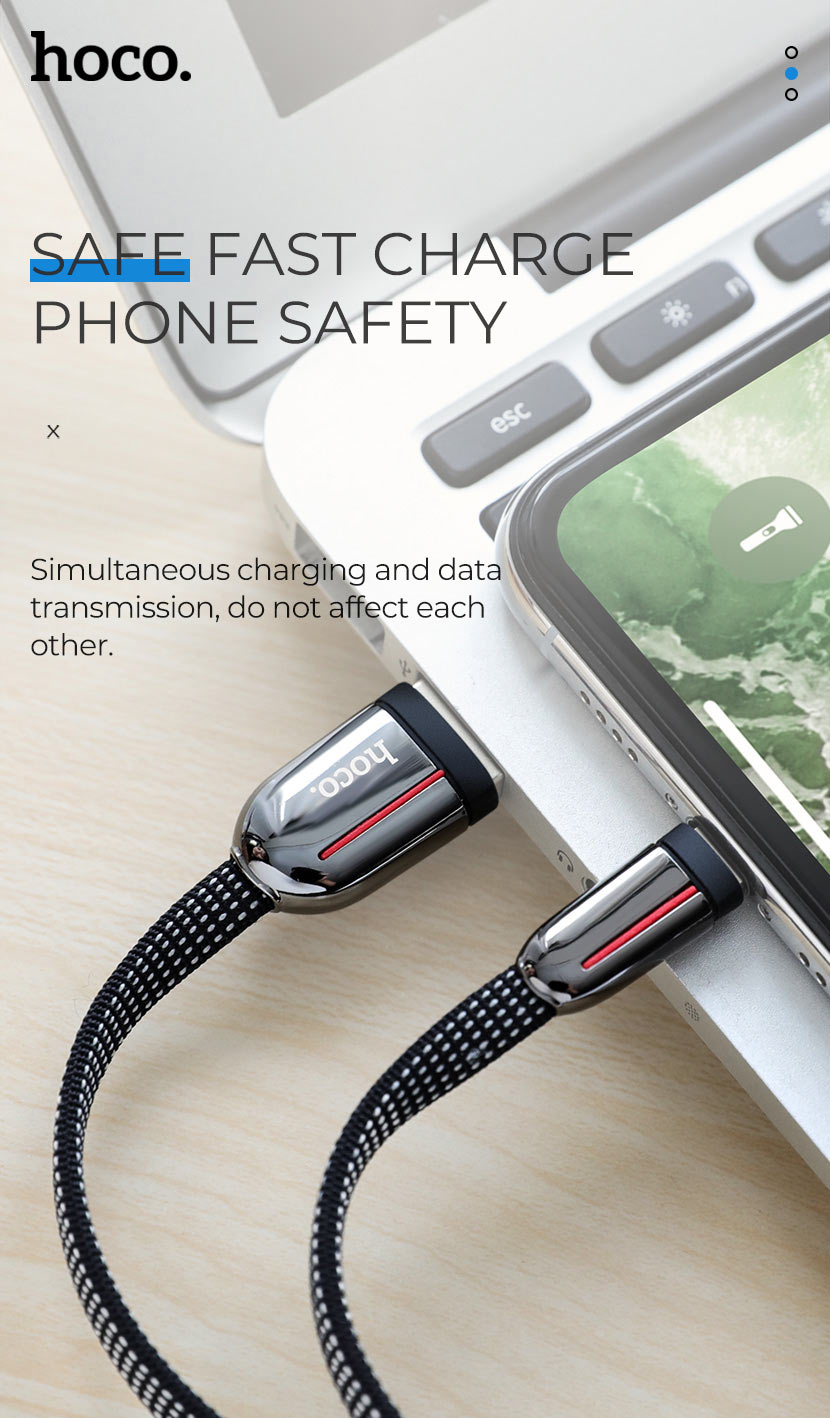 hoco news u74 grand charging data cable safety en