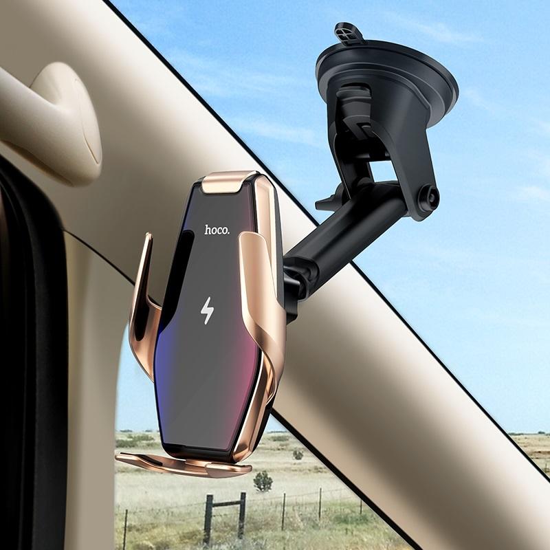 浩酷 s14 灵越自动感应无线充车载支架 挡风玻璃