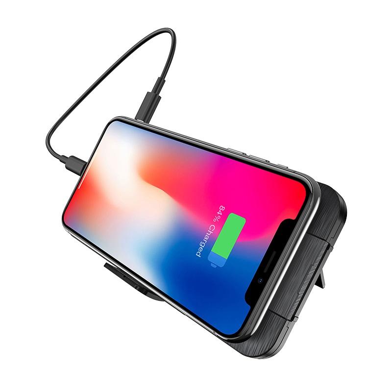 hoco s16 energy lake pd 10w портативный аккумулятор с беспроводной зарядкой 10000mah телефон