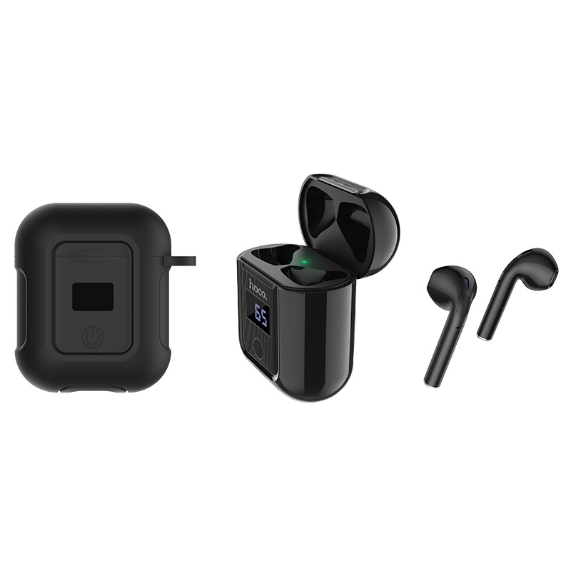 hoco selected s11 melody wireless headset black with black case