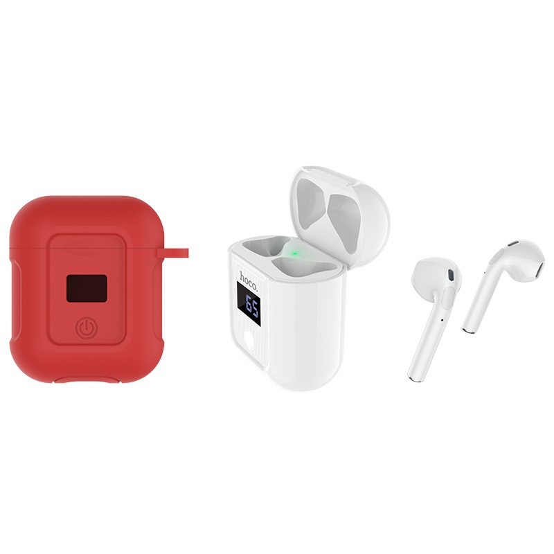 hoco selected s11 melody wireless headset white with red case