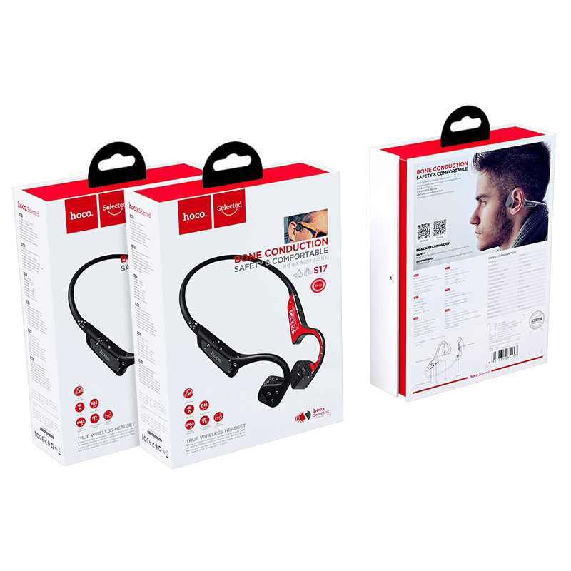 hoco selected s17 wise sound bone conduction wireless headset package