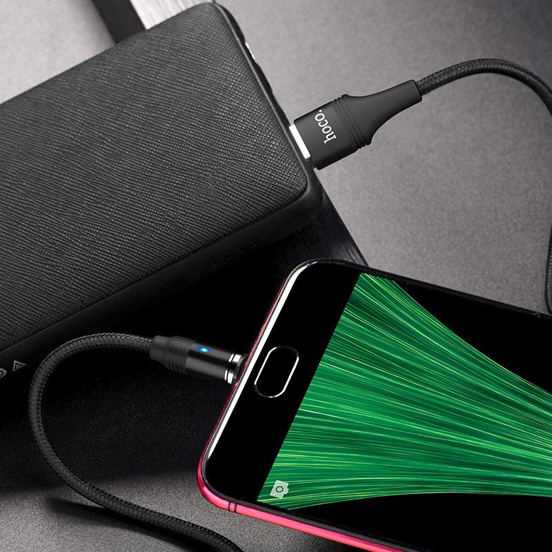 hoco u76 fresh магнитный зарядный кабель для micro usb заряд