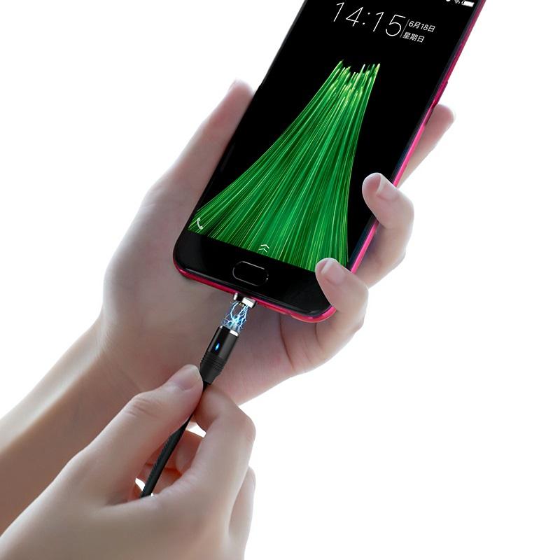 hoco u76 fresh магнитный зарядный кабель для micro usb соединение