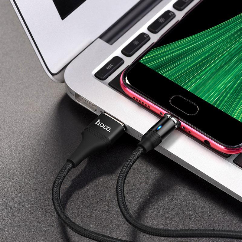 hoco u76 fresh магнитный зарядный кабель для micro usb передача